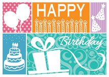 Lively Celebration Birthday Cards